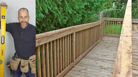 How To Build Deck Railings Youtube Music Videos
