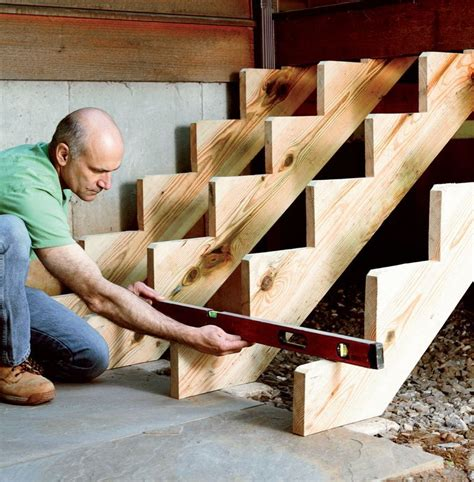 How To Build Deck Stairs 12 Step