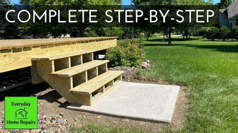 How To Build Deck Stairs Youtube Video