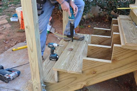 How To Build Deck Steps With Stringers