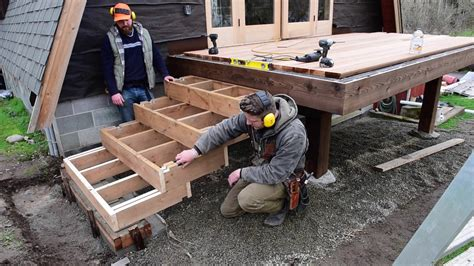 How To Build Decking Box Steps With Stringer