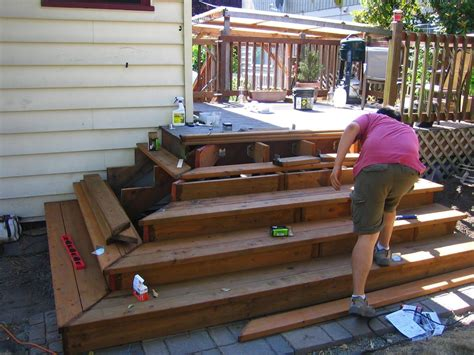 How To Build Decking Steps To Raised Deck