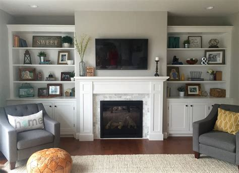 How To Build Fireplace Surround Cabinets Shelf