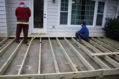 How To Build Floating Deck Over Concrete