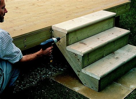 How To Build Garden Decking Steps B Q