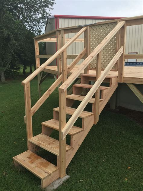 How To Build Handrail For Deck Stairs