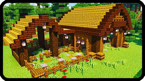 How To Build Horse Stable In Minecraft