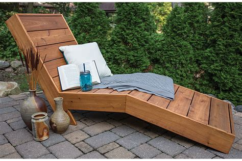 How To Build Outdoor Chaise Lounge