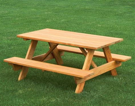 How To Build Picnic Table Wooden