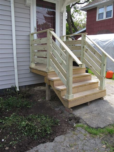 How To Build Railing For Deck Stairs Outside