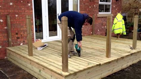 How To Build Raised Decking Youtube Video