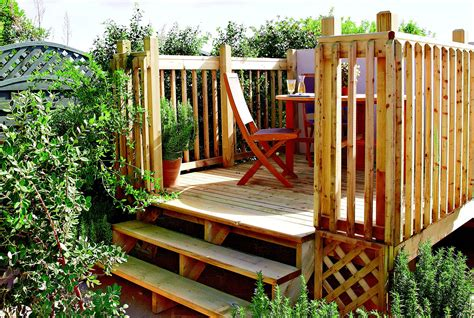 How To Build Raised Garden Decking Designs
