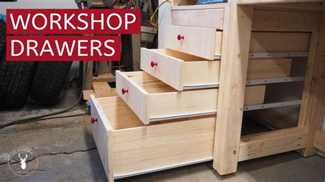 How To Build Shop Cabinet Drawers