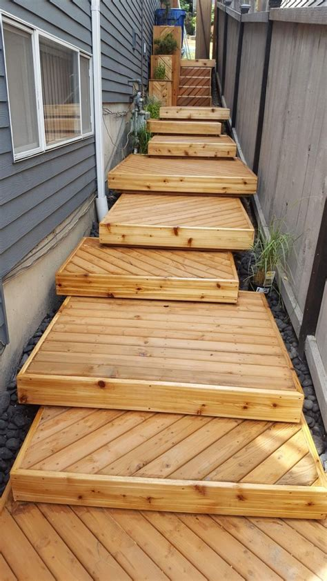 How To Build Timber Decking Stairs Pic