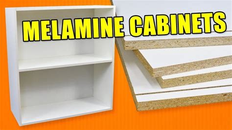 How To Build White Melamine Cabinets