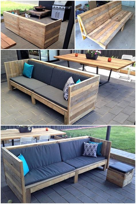 How To Build Wood Pallet Patio Furniture