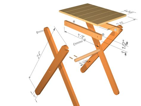 How To Build Wooden Folding Table Legs