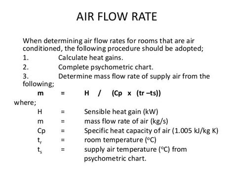How To Calculate Air Flow Rate In Duct Humidifier
