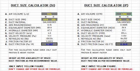 How To Calculate Duct Size As Per Cfm