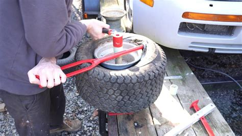 How To Change A Lawn Mower Tire Video