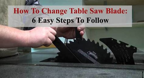 How To Change A Table Saw Blade Porter Cable