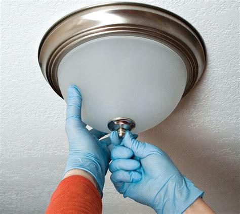 How To Change Ceiling Light Fixture Bulb