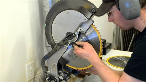 How To Change Saw Blade On Miter Saw