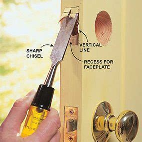 How To Chisel A Door Plate