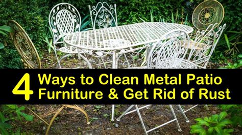 How To Clean Rust Off Metal Patio Furniture