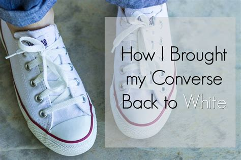 How To Clean White Canvas Converse Sneakers