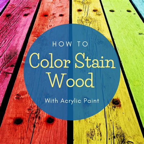 How To Color Stain Wood
