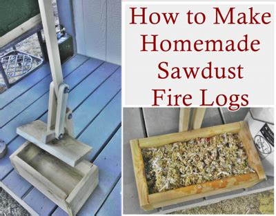 How To Compress Sawdust Into Logs For Fireplace