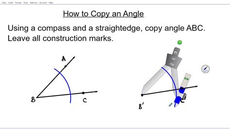 How To Copy An Angle Using A Compass And A Straight Edge