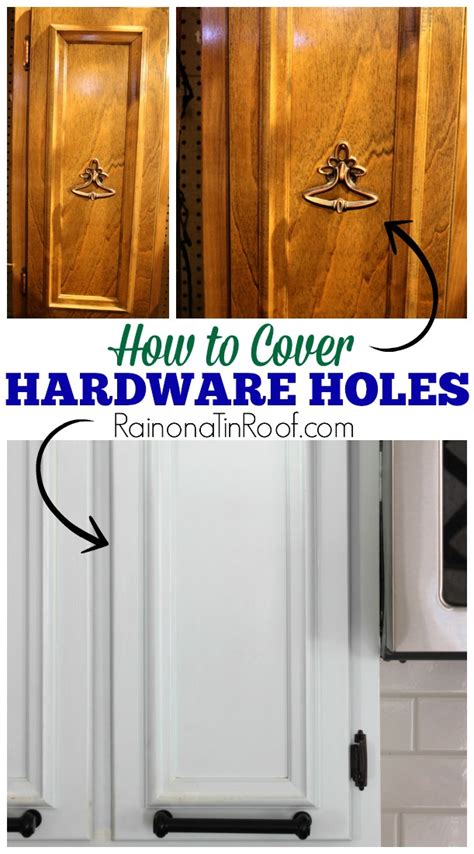 How To Cover Screw Holes In Kitchen Cabinets