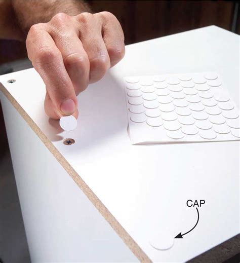 How To Cover Screw Holes In Melamine