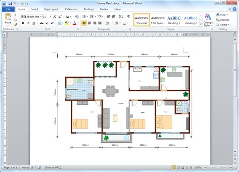 How To Create A Floor Plan In Word 2007