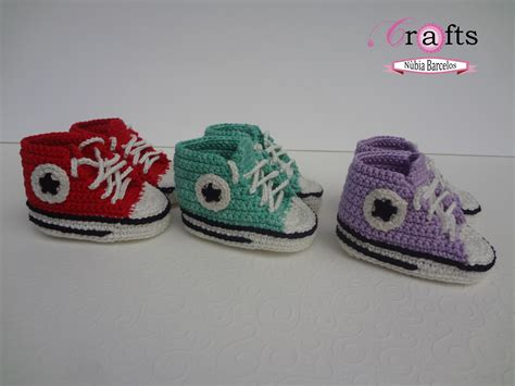 How To Crochet Baby Converse Sneakers