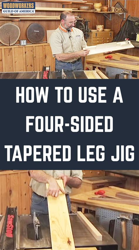 How To Cut A 4 Sided Tapered Leg