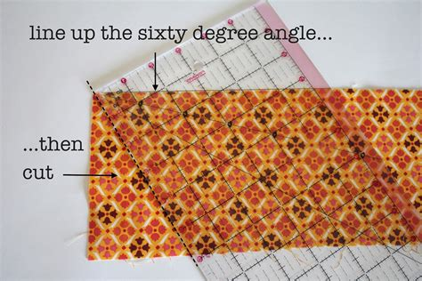 How To Cut A 60 Degree Angle In Quilting