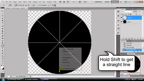 How To Cut A Circle In Photoshop