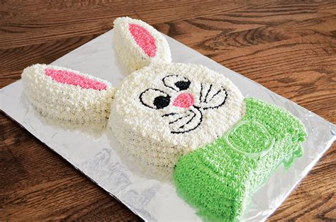 How To Cut A Rabbit Shaped Cake
