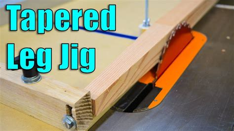 How To Cut A Taper On A Table Saw Youtube Game