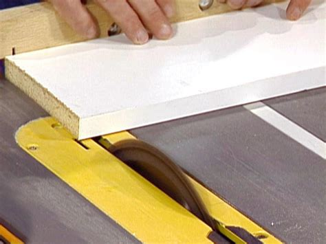 How To Cut A White Laminate Boards
