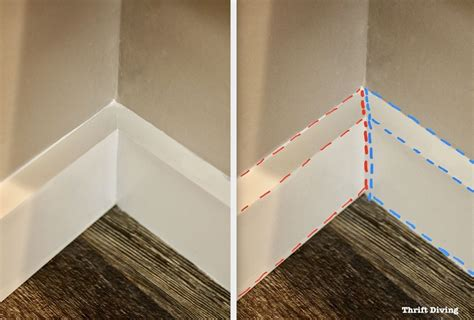How To Cut Base Trim Outside Corner Piece