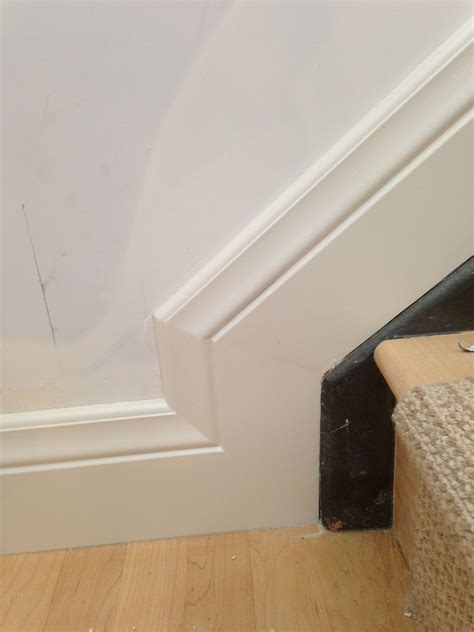 How To Cut Baseboard Angles For Stairs