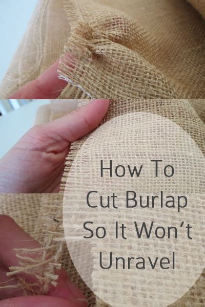 How To Cut Burlap