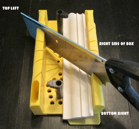 How To Cut Corner Molding With A Miter Box