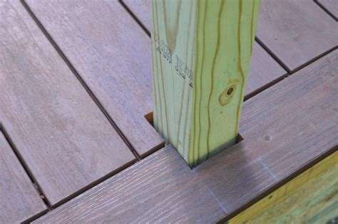 How To Cut Deck Boards Around Posts
