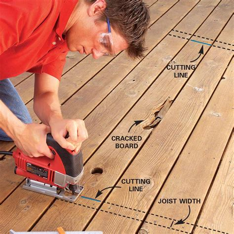 How To Cut Deck Boards Straight