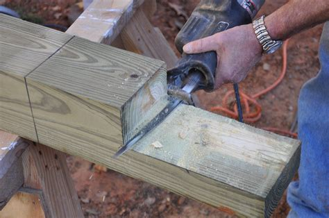 How To Cut Deck Posts Notch